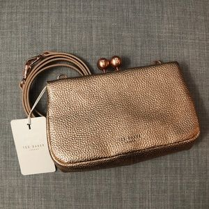 NWT Rose Gold Ted Baker Xbody Bobble Purse